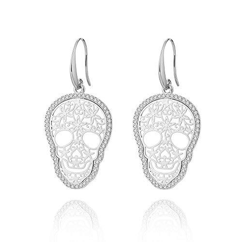 en und amerikanischen Schädel Ohr Nagel Ohrringe Frauen europäischen und amerikanischen Ghost Head Ohrringe Halloween Schmuck ()