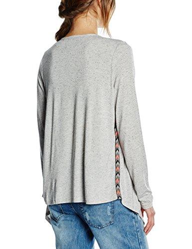 Vero Moda Emilia - Gilet - Uni -Manches longues - Femme Gris (Light Grey Melange/)
