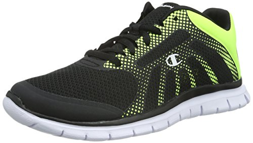 Champion - Low Cut Shoe ALPHA, Sneakers uomo, color Nero (New Black / Green / Dots 2504), talla 45