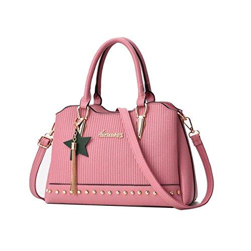 Damen Handtasche Mittleren Alters Damen Tasche Mutter Tasche Wild Messenger Mode Lässig Umhängetasche,Blue Pink