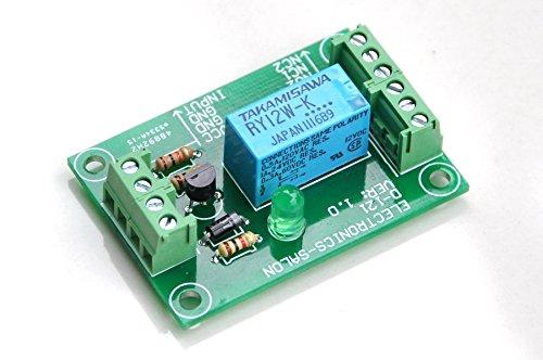 Electronics-Salon Module relais de signal DPDT, relais 12Vdc, RY12W-K. A assemblé.