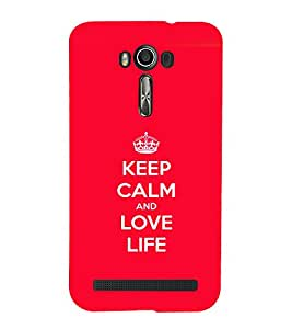 printtech Keep Calm Quotes Back Case Cover for Asus Zenfone Go::Asus Zenfone Go ZC500TG