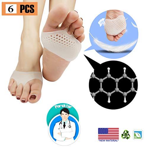 Cuscinetti metatarsali, cuscinetti a sfera (6 PCS) ,NUOVO MATERIALE, Cuscinetti dell'avampiede, gel traspirante e morbido, ideale per piedi diabetici, callo, vesciche, dolore dell'avampiede.