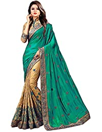 Latest Saree Fashion Women's Green Georgette Heavy Party Wear Sarees For Women Latest Offer Design 2018 Mega Sale...