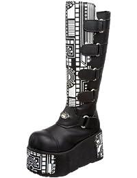 Plateau Stiefel mit Klettverschluss BOXER-200 Schwarz, EU 40