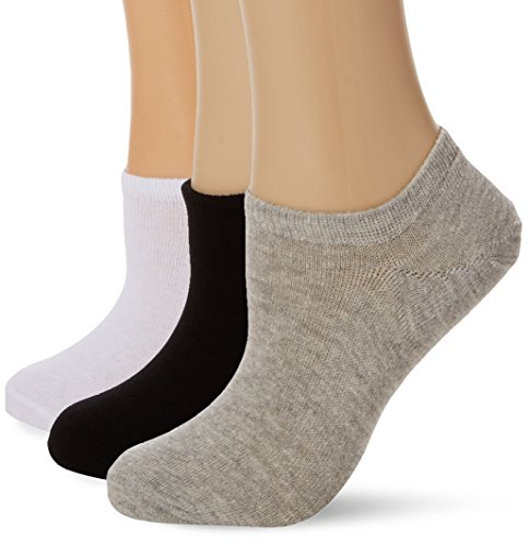 FM London Women's Ladies Low Cut Invisible Flats Ankle Socks pack of 12