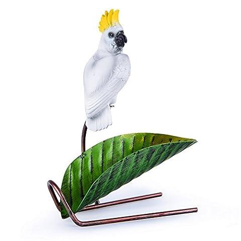 Ornamentos de fer Étagère à vin Vin Wine Rack meubles pour la maison créatif européen Cadre Display Shelf Red Parrot Perroquet Wine Rack, 210* 120* 265mm