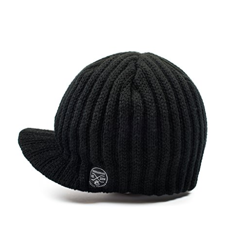 4f2f60e587 Born to Love Knuckleheads - Gray Boy's Baby Visor Beanie Hat With Stripes  Detail - Black - 12-18 Months