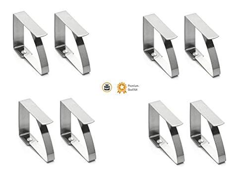 Kerafactum® Tischdeckenklammer Tischtuchklammer aus Edelstahl zum Klammer Befestigen der Tischdecke