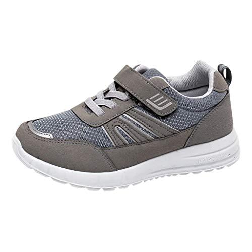 CUTUDE Damen Sneakers Bequem Mesh Ultraleichte Atmungsaktive Sportliche Laufschuhe für Running Fitness Jogging Basketball (Grau, 39 EU) -