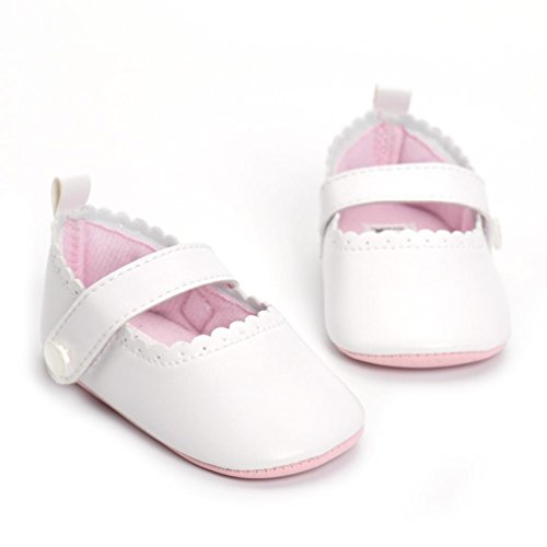 Igemy 1 Paar Kleinkind Neugeboren Schuhe Baby Säugling Kinder Mädchen Soft Sohle Sneaker Sandalen Weiß