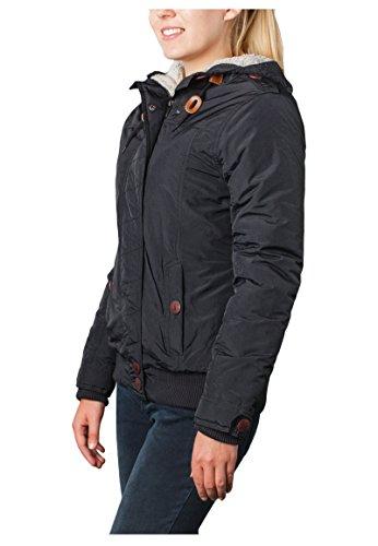 Sublevel Damen Winterjacke mit Kapuze & Stehkragen | Kapuzenjacke | Warme Steppjacke mit Daumenloch und geräumigen Taschen Black
