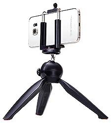YunTeng YT-228 Mini Tripod Mount + Phone Holder Clip Desktop Self-Tripod for Mobile Phones and Digital Camera