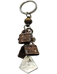Ratnatraya Feng Shui Crystal Diamond Wealth Bag Keychain For Spiritual Protection | Lucky Key Ring For Bicycle...