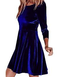 best loved 5fe3b 38bc9 Amazon.it: Velluto blu - A tunica / Vestiti / Donna ...