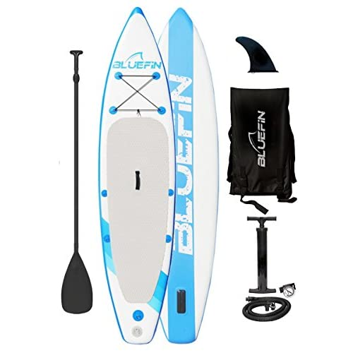 "41zpqRhQgcL. SS500  - Bluefin Cruise SUP Package | Stand Up Inflatable Paddle Board | 6"" Thick 