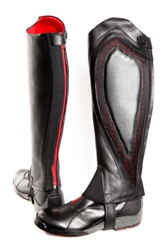 Comfort Zone Reitgamaschen XS schwarz - schwarz/red