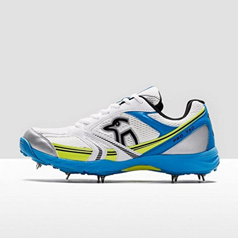 Pro 750 Spike Cricket Shoes, White, UK8