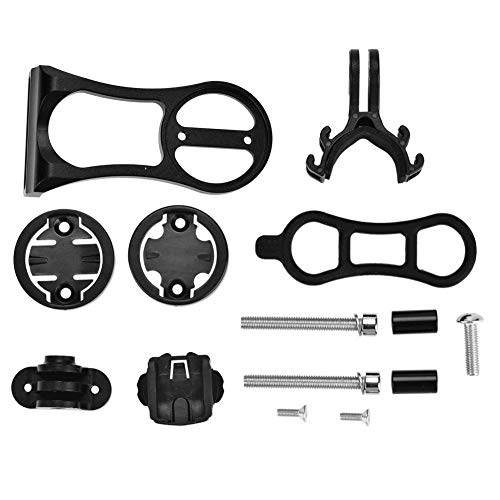 Alomejor 1 Stück Fahrrad Stem Extension Halter, Aluminiumlegierung multifunktionale Radfahren Computer Halterung für Garmin CATEYE Bryton(Schwatz) - Stem Extension Kit