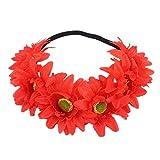 Fuxitoggo Halloween 1PC Diadema Yak Cuerno Cabello Tiara Diadema Pelo aro Tocado (Color : Rojo)
