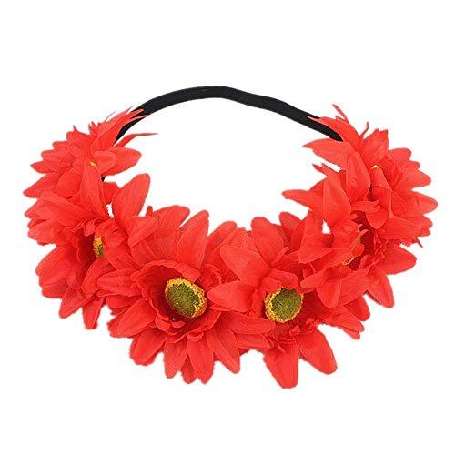 Qiusa Halloween 1 STÜCK Stirnband Yak Horn Haar Tiara Stirnband Haarreif Kopfschmuck (Farbe : Rot)