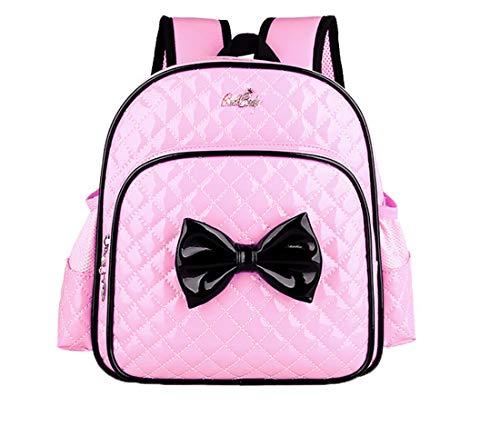 Yslin Rucksack PU Leder Kindergarten Prinzessin Mädchen Schultasche Wasserdicht Mode Backpack Cartoon Schulrucksack Kinder Leicht Schulranzen Baby 2-7Jahre (Pink)