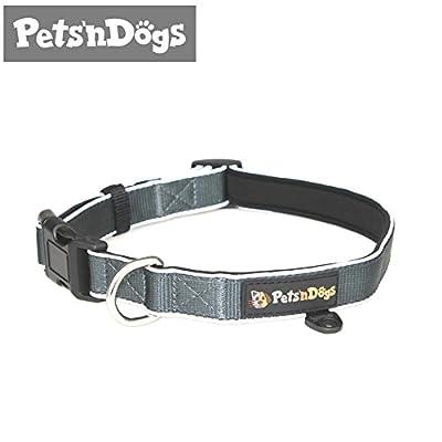 Premium Hunde-Halsband aus hochwertigem Nylon mit softem Neopren-Futter | 3M-Reflektoren für perfekte Sichtbarkeit | + 2 Gratis-Booklets | Pets'nDogs
