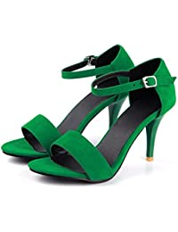 AIKAKA Zapatos de Mujer Primavera y Verano Sandalias de Punta Abierta