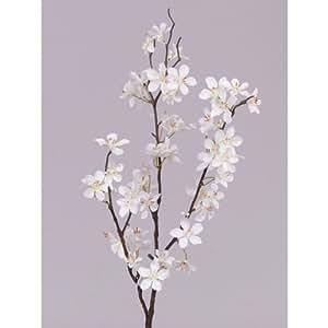 Branche d corative de pommier en fleurs 57 fleurs blanc - Rami decorativi legno ...