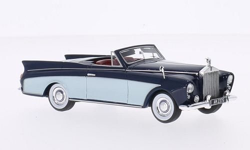rolls-royce-silver-cloud-freestone-webb-dhc-bleu-fonce-bleu-clair-rhd-1957-voiture-miniature-miniatu