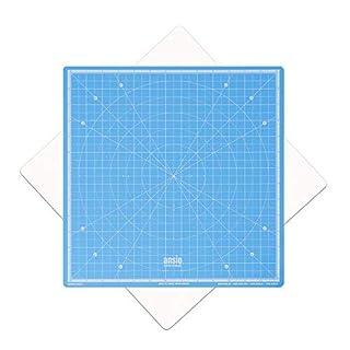 ANSIO Drehbare selbstheilende Schneidmatte - Imperial 33x33 cm - Geeignet für Basteln, Nähen. - Himmelblau
