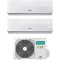 Condizionatore Climatizzatore Inverter Hisense New Comfort Dual Split 12000+12000 12+12 Btu 2AMW50U4RXA R-32 A++