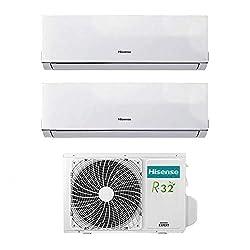 Hisense Klimagerät Klimaanlage Dual Split Inverter Comfort 9000+90009+9BTU A++, AMW2-16U4SGD1