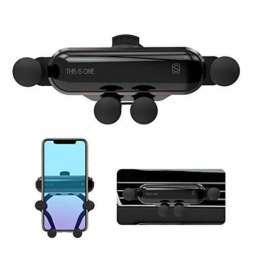 Hamkaw Autohalterung Handyhalterung für Auto, Upgrade Mini Verstellbare Schwerkraft Autohalterung Air Vent Mount Autotelefonhalterung Für iPhone XS Max XR/Samsung/Android 4.7-6.5