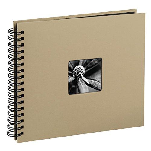 Hama album porta foto fine art con spirale, 50 foto 28x24, colore tortora