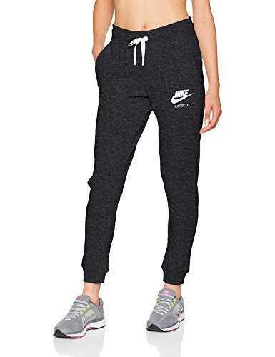 Nike Damen Trainingshose Gym, Schwarz (Black/Sail) , XL