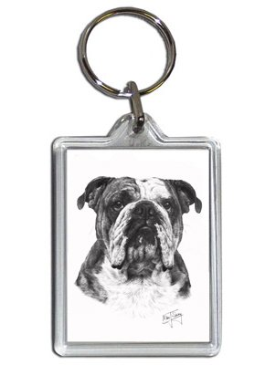 Mike Sibley English Bulldog Keyring