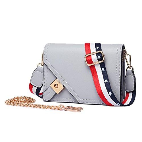 b8dfb7241b42b Retro-Persönlichkeit Schloss Kette Kleine Quadratische Tasche  Schultertasche Messenger Bag Handtaschen