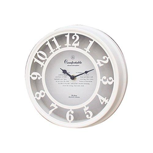 Zeit Concept Old Street Vintage Wanduhr-Analog, Deko, batteriebetrieben White - Wall Clock