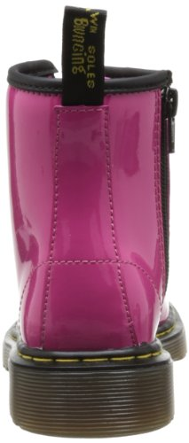 Dr. Martens Delaney, Boots mixte enfant Rose (Hot Pink Patent Lamper)