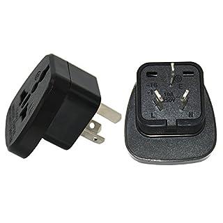 UK to China Adaptor Plug,UK to Chinese Adapter (Pack of 2)