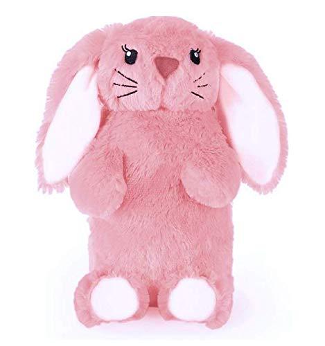 Süß, lustig und kuschelig Wärmflasche in luxuriösen Kunstpelz (1 Liter) (Pink Bunny)