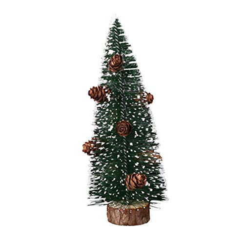 Xuthuly Mini Pine Needle Weihnachtsbaumparty-Dekoration, die klebrigen weißen Schnee-Baum Sich schart (Klassische Weiß Clown Kostüm)