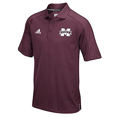 NCAA Mississippi State Bulldogs Men's Sideline Polo, Large, Maroon