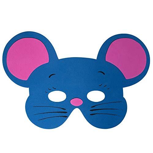 (Werbewas 1x Schaumstoff Masken mit Maus Tiermotiv - als Karnevals, Halloween, Geburtstags-Party Kostüm)