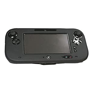 OSTENT Soft-Silikon-Full-Protection-Gel-Tasche Cover-Hülle kompatibel für Nintendo Wii U Gamepad Farbe Schwarz