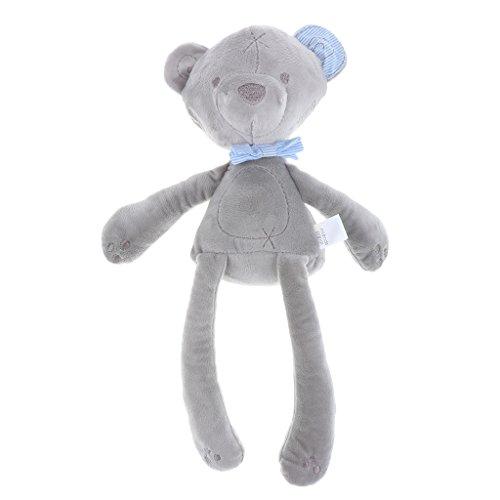 �schtier Bär Stofftier Baby Kinder Geschenk Tiere Puppe Teddybär Kuscheltier Kleinkind Stofftier ca. 42cm - Grau ()