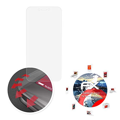 atFolix Schutzfolie passend für General-Mobile GM 8 Go Folie, entspiegelnde & Flexible FX Bildschirmschutzfolie (3X)