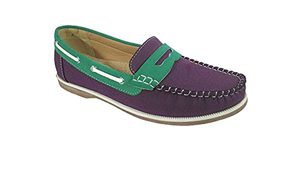 b64d1d41056 Ladies Coolers Faux Nubuck Leather Loafer Slip-On Boat Deck Shoes   Amazon.co.uk  Shoes   Bags