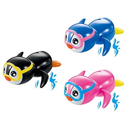 Rclhh Babys Schwimmender Tauchpartner Badespielzeug,Pool Spielzeug Nette Wind Up Tier Badespielzeug Set für Kinder (3 PCS)